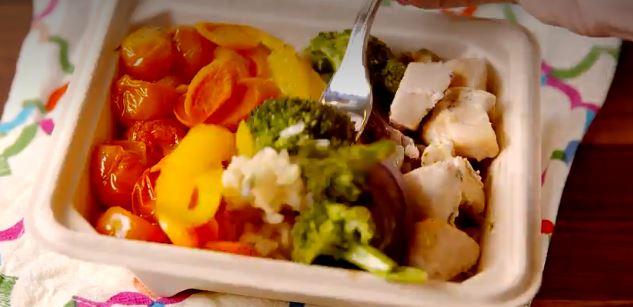 receta de pollo con verdura