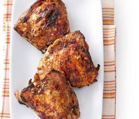 Muslos de pollo con ajo