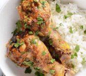Pollo con salsa de maní