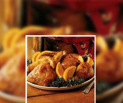 Pollo al horno agridulce