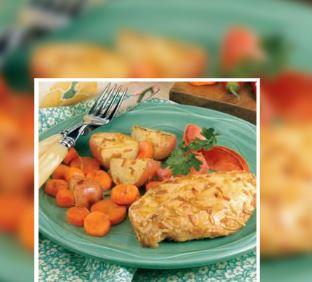 Plato de pollo con verdura