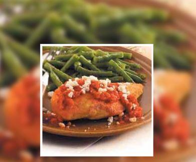 Pollo con Salsa de Pimiento Rojo