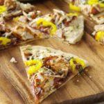 Pizza de pollo sabor barbacoa