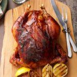 Pollo asado con mantequilla de manzana