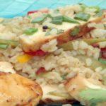 Pollo con arroz agridulce