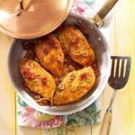Pollo con baicon y romero