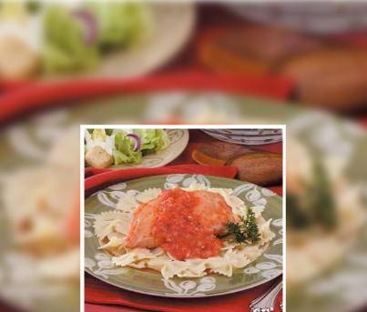 Pollo con Salsa de Pimiento