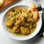 pollo con curry y arroz