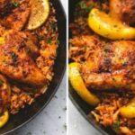 Pollo con arroz español